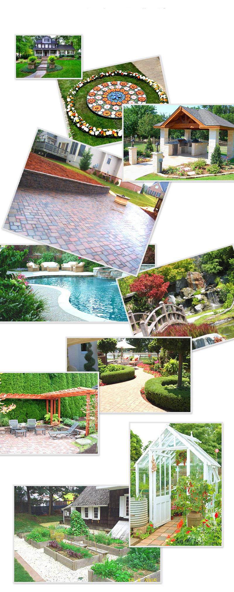 Khuôn làm gạch sân vườn tạo nên công trình đẹp