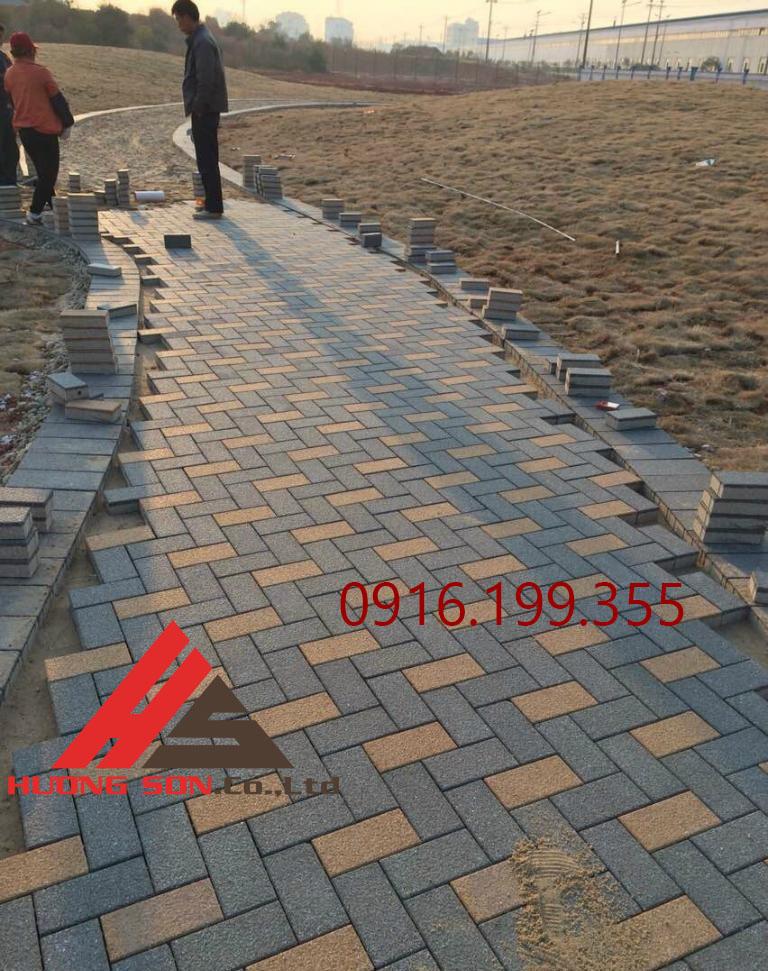 Gạch chữ nhật đẹp được làm ra từ khuôn gạch chữ nhật của công ty Hương Sơn