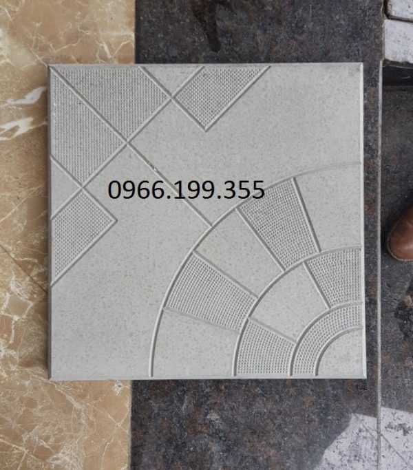 gạch rẻ quạt chấm bi được làm từ khuôn gạch Hương Sơn