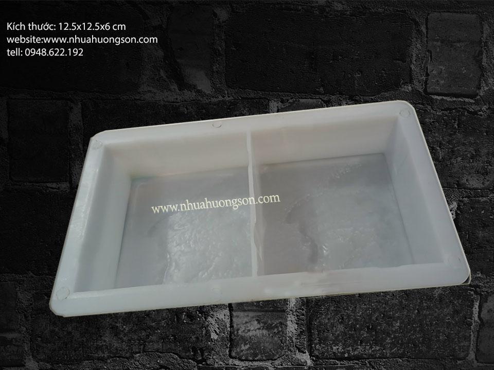 Khuôn gạch giả đá 12.5x12.5 cm